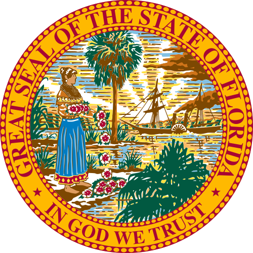 Florida Commission on Offender Review (Seal) State of Florida - In God We Trust